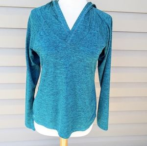 Teal Heather Athletic Workout Hoodie